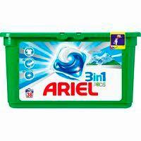 Detergent en càpsules3en1Alps ARIEL, caixa 38 dosi