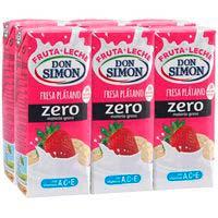 Lactosuc zero maduixa i platan DON SIMON 6x200ml
