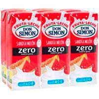 Lactozumo zero sabor melón-sandía DON SIMON, pack 6x200 ml