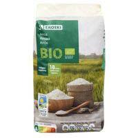 Arroz ecológico redondo EROSKI, paquete 500 g