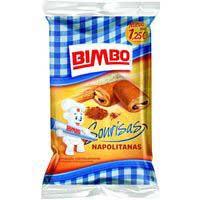 Bimbo Napolitanes farcides de xocolata 6u 240g