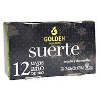 12 Uvas año oro GOLDEN, pack 2x120 g