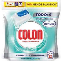Detergente gel en cápsulas nenuco COLON, bolsa 22 dosis