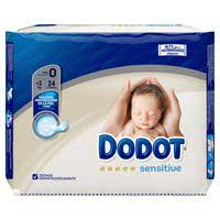 Dodot Pañales Sensitive T0 >3kg 24u