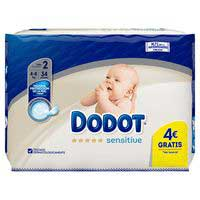 Dodot Pañales Sensitive T2 4-8kg 34u