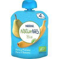 Nestlé Pouche ecológico de pera y plátano 4meses 90g