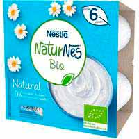 Nestlé Iogurt natural ecològic 0% sucres afegits 6mesos 4x90g
