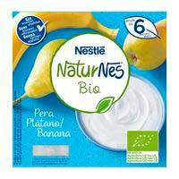 Nestlé Iogurt plàtan i pera eco.0% sucres afegit 6mesos 4x90g