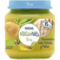 Nestlé Tarrito ecològic pèsols amb patata i pollastre 6mesos200g