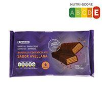 Eroski Barrita barquillo chocolate sabor avellana 129g