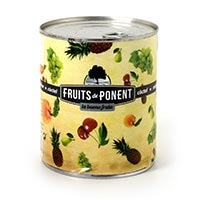 Còctel fruita almívar FRUITS DE PONENT, pot 840 g
