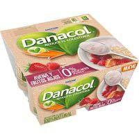 Danacol Avena y frutos rojos Danone 0% azúcares añadidos 4X120g