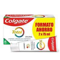 Dentífrico original COLGATE Total, pack 2x75 ml