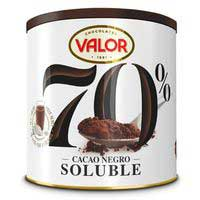 Valor Cacao negro 70% soluble 300g