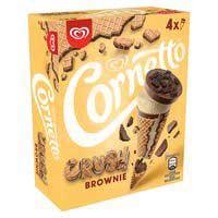 Cornetto Con vainilla brownie 240g