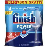 Lavavajillas máquina FINISH Todo en 1, bolsa 16+6 dosis