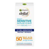 Crema gel facial solar pell sensible FPS50 DELIAL, tub 50 ml
