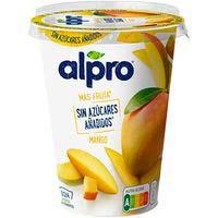 Alpro Yogur de mango sin azúcares añadidos 400g