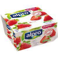 Alpro Yogur soja de fresa 4x125g
