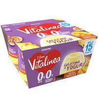 Vitalinea Gelatina de yogur sabor frutos tropicales 480g