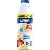 Nestlé Yogur líquido de fresa y plátano 1l