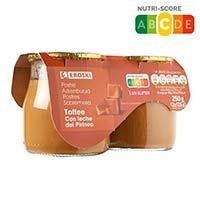 Postres toffe de llet de Pirineus EROSKI, pack 2x125 g