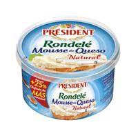 President Mousse de queso natural rondelé 125g