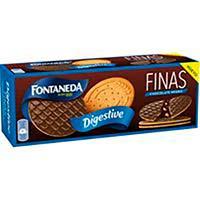 Galleta Digestive Finas de chocolate negro FONTANEDA, caja 170 g