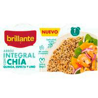 Arroz integral con chia BRILLANTE, pack 2x125 g