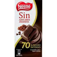 Chocolate negro 70% sin azúcar NESTLÉ, tableta 125 g
