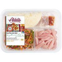 Aldelis Fajitas tex mex pollastre marinat i verdures 380g