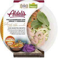 Aldelis Pollastre amb arròs i verdures mediterrànies 380g