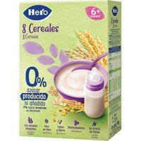 Hero Baby Papilla 8 cereales 0% azúcares añadidos 340g