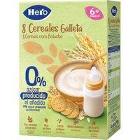 Hero Baby Papilla 8 cereales galleta 0% azúcares añadidos 340g