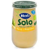 Potito eco de pera-plálatano HERO, tarro 190 g
