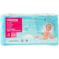 Bolquer per a nadó amb tubssuperabsorbenteT3 4-9 kg EROSKI,54ud