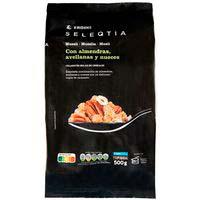 Muesli de almendra-avellana-nuez Eroski SELEQTIA, bolsa 500 g