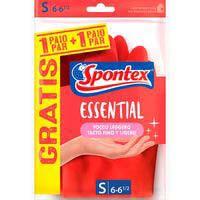 Spontex Guante essential talla pequeña 2u