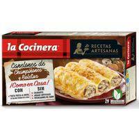 Canelons de xampinyons-ceps LA COCINERA, caixa 500 g