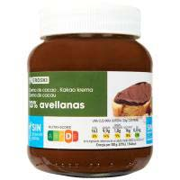 Eroski Crema cacau 1 gust 13% avellana sense oli palma 400g
