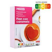Flan con caramelo EROSKI, caja 190 g