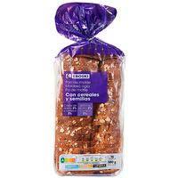 Pan de molde con cereales-semillas EROSKI, paquete 580 g