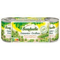 Guisante muy fino sin azucar añadido BONDUELLE, pack 3x140 g