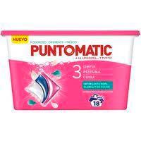 Detergente en cápsulas 3D PUNTO MATIC, caja 18 dosis