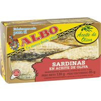 Albo Sardinas en aceite 120g