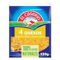 Queso rallado 4 quesos EL CASERIO, bolsa 130 g
