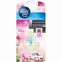 Ambientador coche flores AMBIPUR, recambio 7 ml