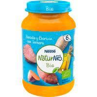 Potet de moniato-xirivia amb vedella bio NESTLÉ, pot 190 g