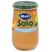 Potito ecológico de verduras con salmón HERO, tarro 190 g