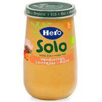 Potet eco de verdures-llenties-gall dindi HERO, pot 190 g